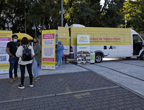 ¿Dónde están esta semana las Unidades Móviles de Testeo de la Ciudad?